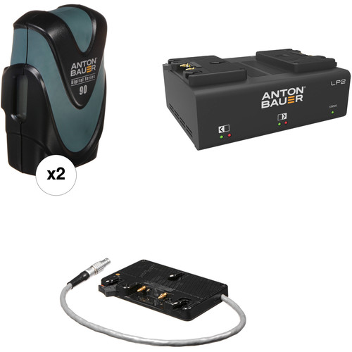 Anton Bauer Digital 90 Battery Kit with LP2 Dual Charger & Plate for Canon C300 MkII (Gold Mount)