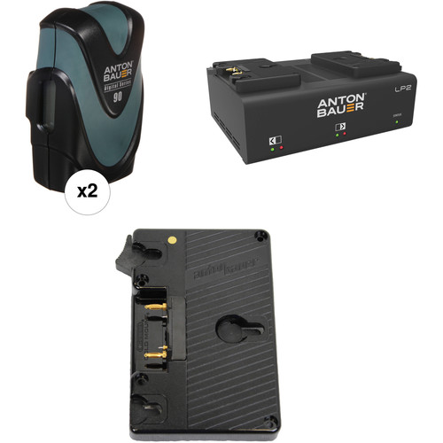 Anton Bauer Digital 90 Battery Kit with LP2 Dual Charger & Plate for Canon C700 (Gold Mount)