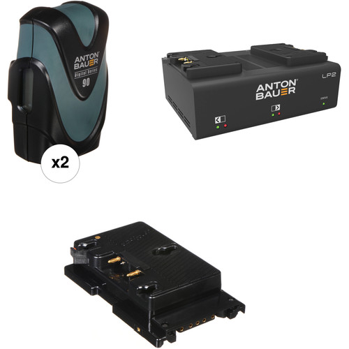 Anton Bauer Digital 90 Battery Kit with LP2 Dual Charger & Plate for Sony F5/F55 (Gold Mount)