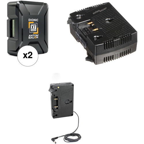 Anton Bauer Dionic XT90 Battery Kit with Charger & Plate for Canon C300/C500 (Gold Mount)