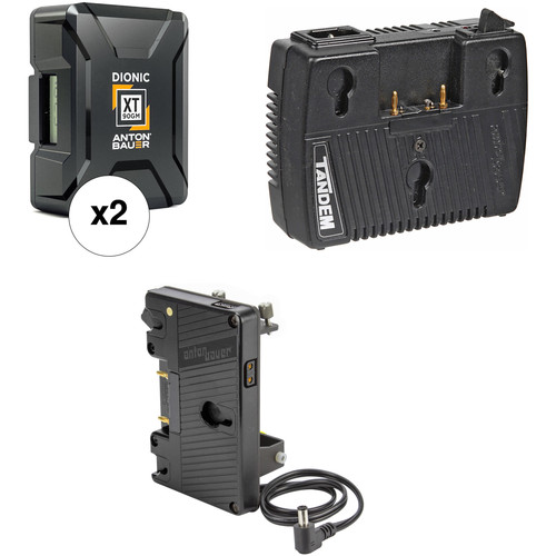 Anton Bauer Dionic XT90 Battery Kit with Tandem-70 Charger & Plate for Sony FS7 (Gold Mount)