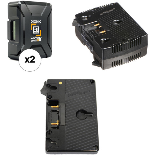 Anton Bauer Dionic XT90 Battery Kit with TWIN Dual Charger & Plate for Canon C700 (Gold Mount)