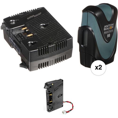 Anton Bauer Dual Digital 90 & Charger Kit for URSA / URSA Mini (Gold Mount)