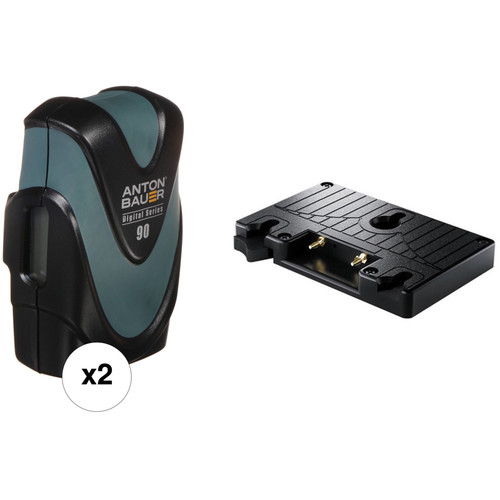 Anton Bauer Dual Digital 90 Battery & Gold Mount Plate Kit
