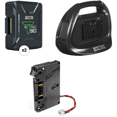 Anton Bauer Titon 90 Battery Kit with Dual Charger & Plate for Blackmagic URSA (Gold Mount)