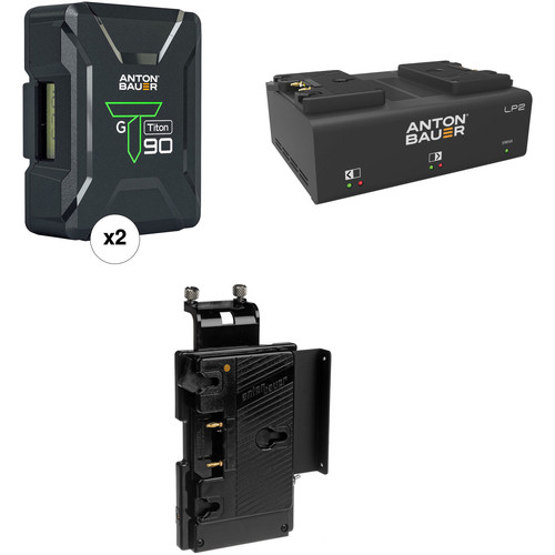 Anton Bauer Titon 90 Battery Kit with LP2 Dual Charger & Plate for Sony V-Mount Cameras (Gold Mount)