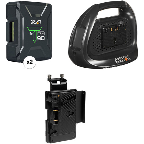Anton Bauer Titon 90 Battery Kit with Dual Charger & Plate for Sony V-Mount Cameras (Gold Mount)