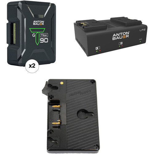 Anton Bauer Titon 90 Battery Kit with LP2 Dual Charger & Canon C700 Plate (Gold Mount)