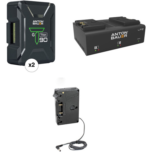 Anton Bauer Titon 90 Battery Kit with LP2 Dual Charger & Plate for Canon C300 & C500 (Gold Mount)