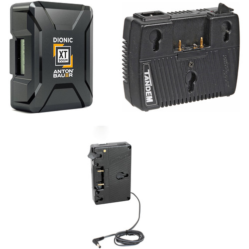 Anton Bauer Dionic XT90 Battery Kit with Tandem-70 Charger & C300/C500 Plate (Gold Mount)