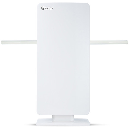 ANTOP Antennas AT-400BV Flat Panel Big Boy Indoor/Outdoor Amplified HDTV Antenna (White)