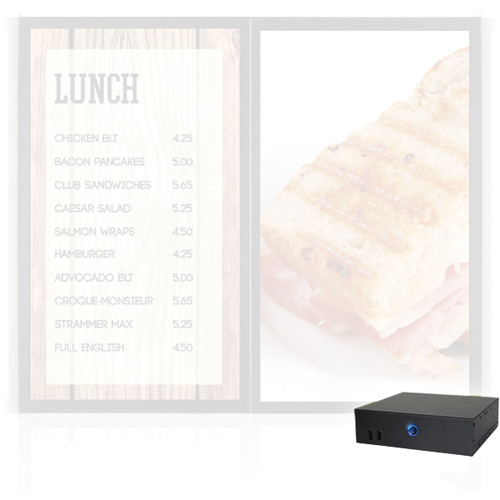 "AOPEN nTAKE Value Digital Signage Kit with Two Landscape Ceiling-Mounted 42"" LED Monitors"