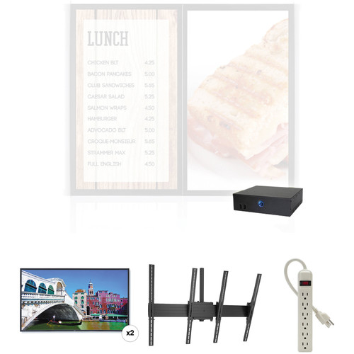 """AOPEN nTAKE Value Digital Signage Kit with Two Portrait Ceiling-Mounted 42"""" LED Monitors"""