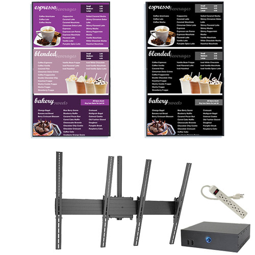 "AOPEN nTAKE Value Digital Signage Kit with Two Portrait Ceiling-Mounted 46"" LED Monitors"