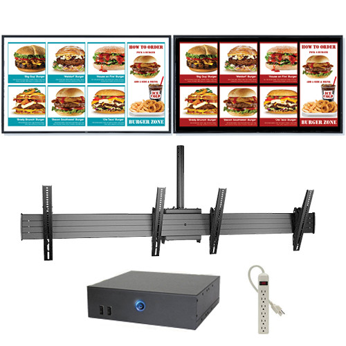 """AOPEN nTAKE Value Digital Signage Kit with Two Landscape Ceiling-Mounted 46"""" LED Monitors"""