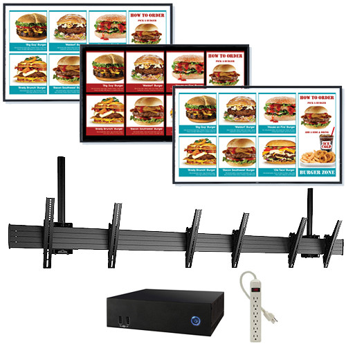 """AOPEN nTAKE PRO with Three 46"""" LED Monitors Ceiling-Mounted Digital Signage Kit"""