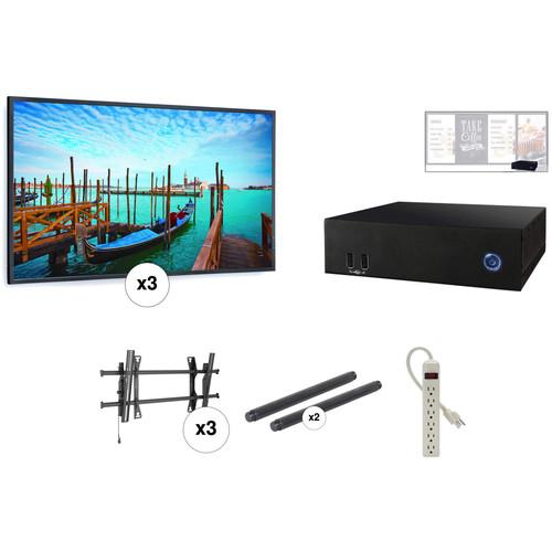 "AOPEN nTAKE PRO with Three 55"" LED Monitors Wall-Mounted Digital Signage Kit"
