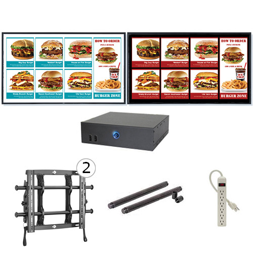 "AOPEN nTAKE Value with Two 46"" LED Monitors Wall-Mounted Digital Signage Kit"