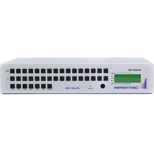 Apantac DVI-16x16 DVI Matrix Switch with RS232 & IP Control