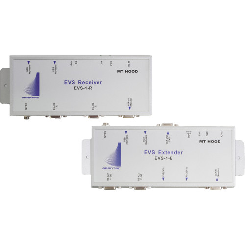 Apantac EVS-SET-1 EVS-1-E Extender & EVS-1-R Receiver VGA/USB/PS2/RS422 over CAT5e/6 Kit
