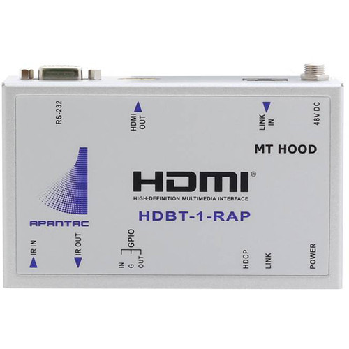 Apantac Single-Port HDBaseT HDMI Receiver with IR, RS232, GPI and Assignable POE