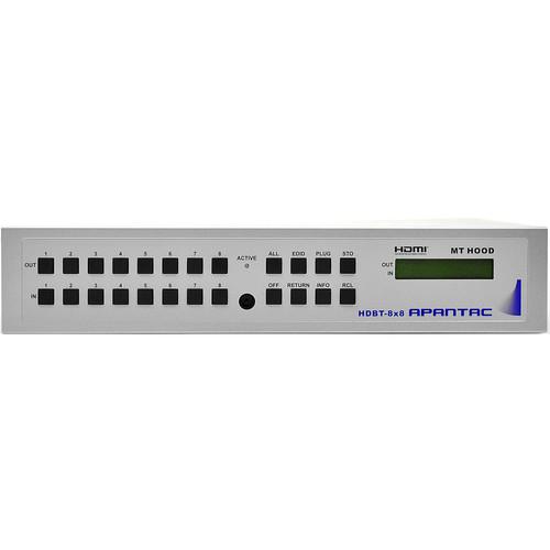 Apantac HDBaseT HDMI 8x8 Matrix Switcher (2 RU)