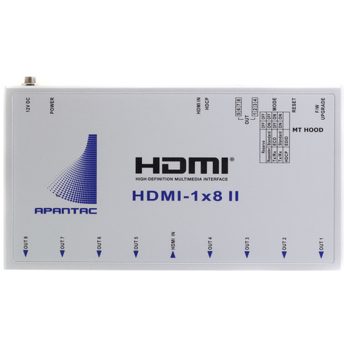 Apantac 1 x 8 HDMI Splitter with 4K2K and HDCP