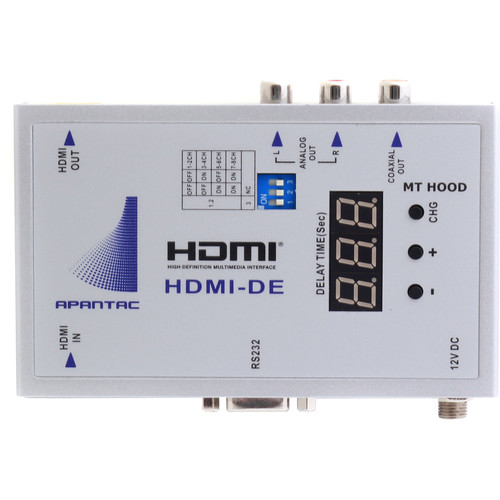 Apantac HDMI Audio De-Embedder with Audio Delay