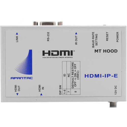 Apantac Single-Port HDMI/RS232/IR over Ethernet Transmitter (Up to 328')