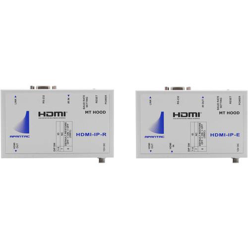 Apantac Single-Port HDMI/RS-232/IR Transmitter & Receiver Kit over Ethernet (328')