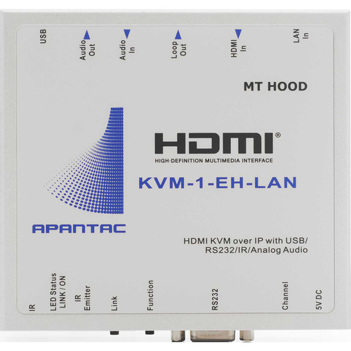 Apantac KVM Extender HDMI Over Gigabit Ethernet LAN