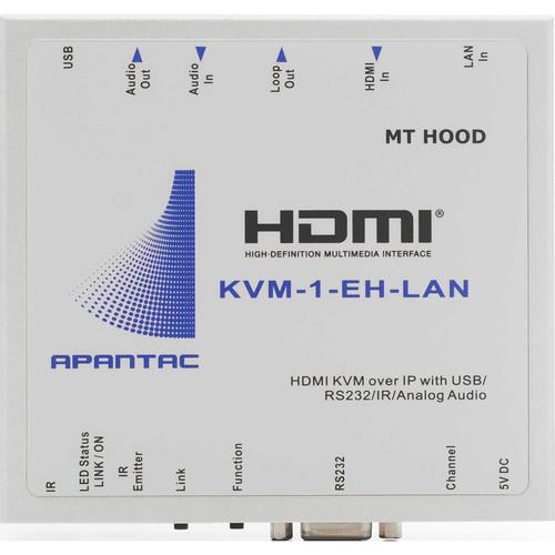 Apantac KVM Extender HDMI Over Gigabit Ethernet LAN