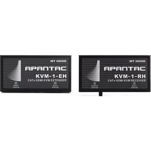 Apantac Single-Port HDMI/USB/RS-232/IR KVM Transmitter & Receiver Kit over Ethernet (Up to 591')