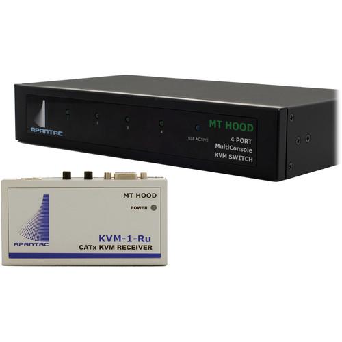 Apantac MKVM-4 Multi-Console & Four KVM-1-RU Receivers Kit