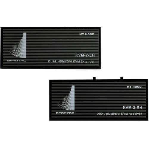 Apantac Dual-Head HDMI/DVI/USB over CATx KVM-2-EH Extender & KVM-2-RH Receiver Set