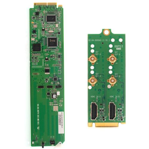 Apantac HDMI to SDI Converter Card and RM2 Rear Module Set for openGear 3.0 Frame