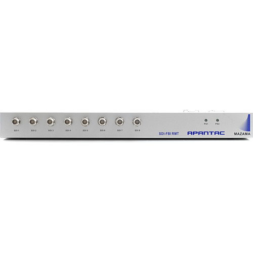 """Apantac 19"""" Rackmount Chassis for Up to 8 SDI-FIB-TX/RX Extenders with Two Hot Swappable Power Supplies"""