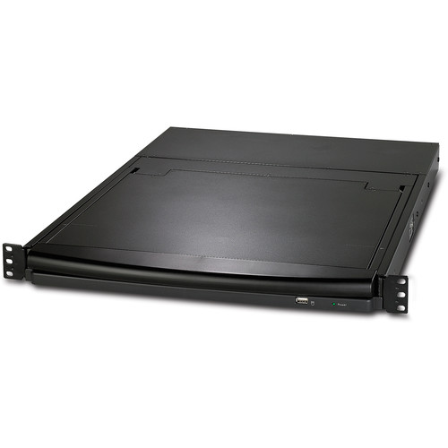 """APC 17"""" Rack LCD Console with Integrated 16-Port Analog KVM Switch (Black)"""