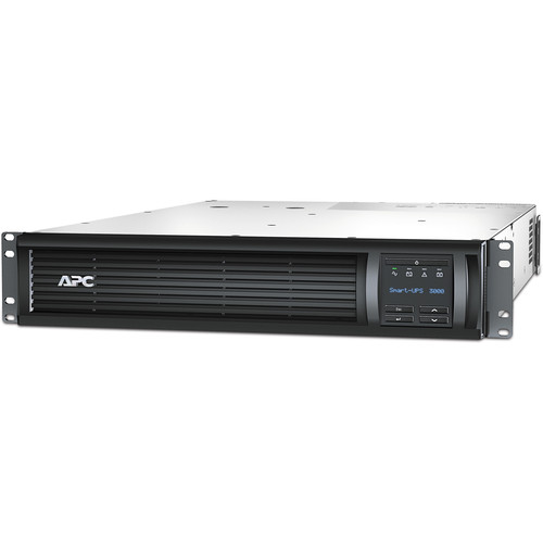 APC Smart-UPS 3000VA LCD 2U Rackmount with 12' Cord (Black)