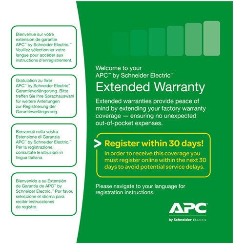 APC 3-Year Extended Warranty (Renewal or High Volume)