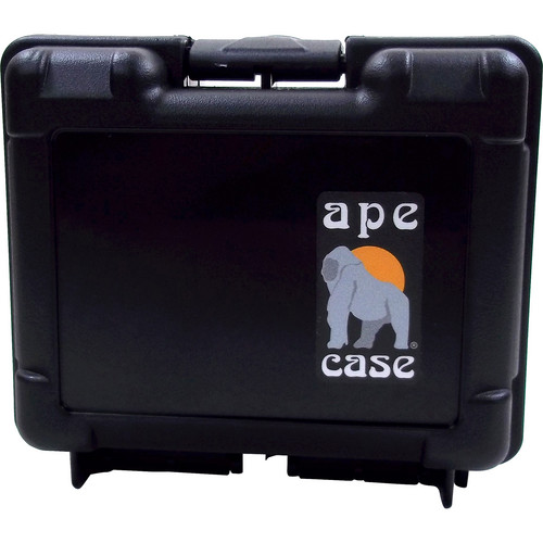 Ape Case Small Multipurpose Lightweight Hard Case with Foam Inserts (Black)