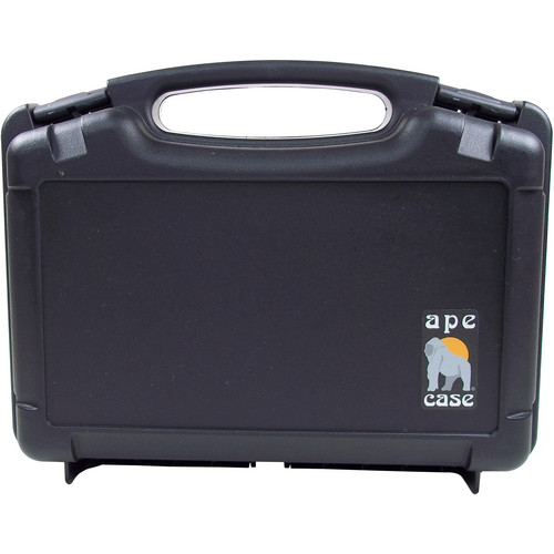 Ape Case Large Multipurpose Lightweight Hard Case with Foam Inserts (Black)