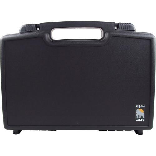 Ape Case Medium Multipurpose Lightweight Briefcase with Foam Inserts (Black)