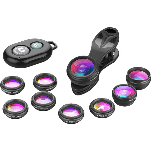 Apexel 10-in-1 Smartphone Lens Kit with Remote Shutter