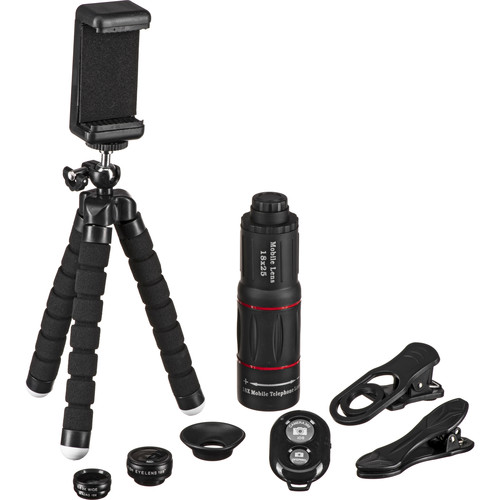 Apexel 4-in-1 Smartphone Lens Kit with Remote Shutter
