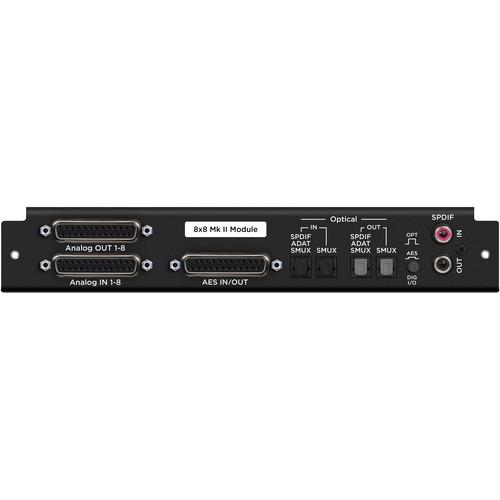 Apogee Electronics 8x8 Mk II Module - 16-Channel Analog and AES/Optical I/O Module for Symphony I/O Mk II