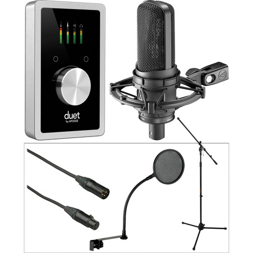 Apogee Electronics Duet USB Interface with Audio-Technica 4050 Microphone iOS Studio Kit