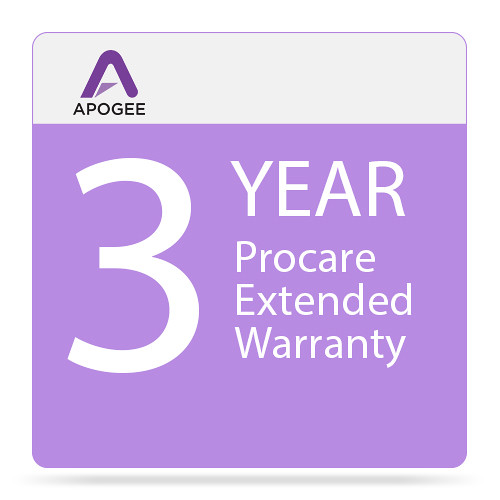 Apogee Electronics Procare Warranty Extension for Symphony I/O Mk II 16x16+8MP Audio Interface