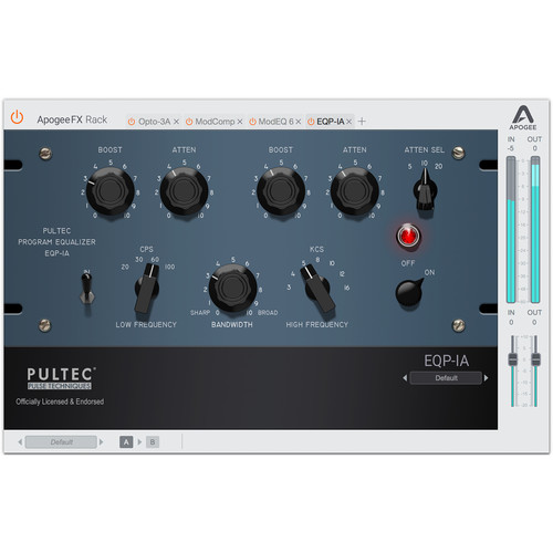 Apogee Electronics EQP-1A - FX Rack Pultec Program Equalizer Plug-In (Version 1, Download)