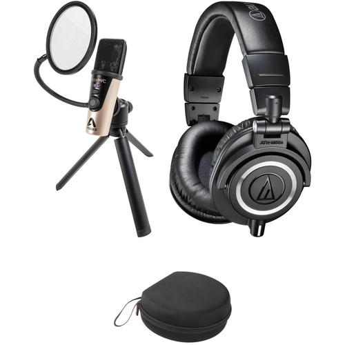 Apogee Electronics HypeMiC USB Cardioid Condenser Microphone Kit with Audio-Technica ATH-M50x Headphones & Case